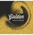 Gold Glitter Sparkles Bright Confetti Black vector image vector image