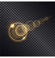 golden lght effect of circle growing round spheres vector image vector image