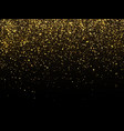 golden rain isolated on black background vector image vector image