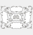 hand drawn decorative frames and corners vector image