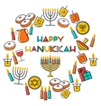 Hanukkah holiday background vector image vector image