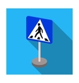 Information road signs icon in flat style isolated vector image