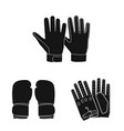 isolated object of glove and winter logo vector image