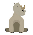 isolated stuffed rhino toy vector image vector image