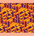 isometric labirynth pattern vector image vector image