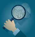 Magnifying Glass and Fingerprint vector image