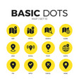 map flat icons set vector image vector image