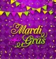 mardi gras lettering background invitation vector image vector image