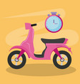 motorcycle scooter isolated icon vector image