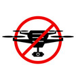 no drone zone sign flights with drone prohibited vector image vector image