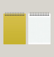 notepad with a yellow cover vector image