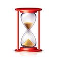 object hourglass vector image