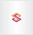 orange purple s logo icon letter sign vector image vector image