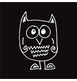 owl hand draw design vector image