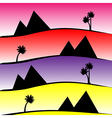 pattern with pyramids and palms vector image