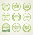 premium quality green laurel wreath collection vector image