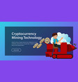 production of ethereum crypto currency poster vector image
