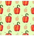 Red Pepper Seamless Pattern vector image vector image
