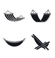 relax hammock icon set simple style vector image vector image
