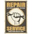 Repair Service Retro Style Poster vector image