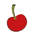 ripe cherry fruit nature design drawing vector image vector image