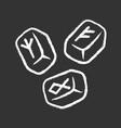 rune stones chalk icon scandinavian nordic vector image