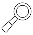 school loupe icon outline line style vector image vector image