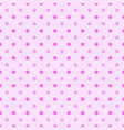 seamless pattern with white polka dots in two vector image vector image