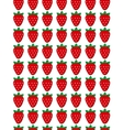Seamless strawberry pattern Design for vector image vector image