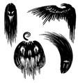 set halloween characters vector image