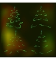 Set of abstract brilliant Christmas trees EPS10 vector image