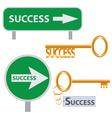 set of success concept arts vector image vector image