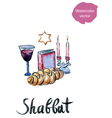 Shabbat vector image