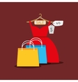 shopping woman fashion vector image vector image