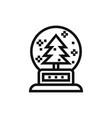snow ball icon vector image