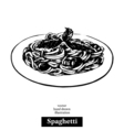 Spaghetti Vintage fast food hand drawn sketch vector image vector image
