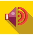 Speaker volume icon in flat style vector image vector image