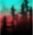 Summer nature landscape on background of mountains vector image vector image