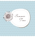 summer vintage ornament with sunflowers vector image vector image