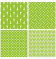 tile pattern with white print on green background vector image vector image