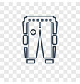 trouser of a football player concept linear icon vector image