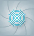 umbrella icon summer season vector image