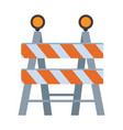 Under construction barrier icon vector image