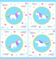 unicorns design of mythological creature vector image vector image