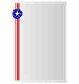 usa symbols border ribbon a4 paper vector image vector image