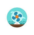 Ventilator icon Summer Vacation vector image