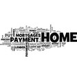 what is a down payment for a house text word vector image vector image