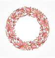 wreath in pink vector image vector image