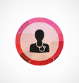 doctor circle pink triangle background icon vector image