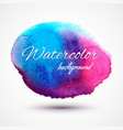 hand drawn watercolor stain vector image
